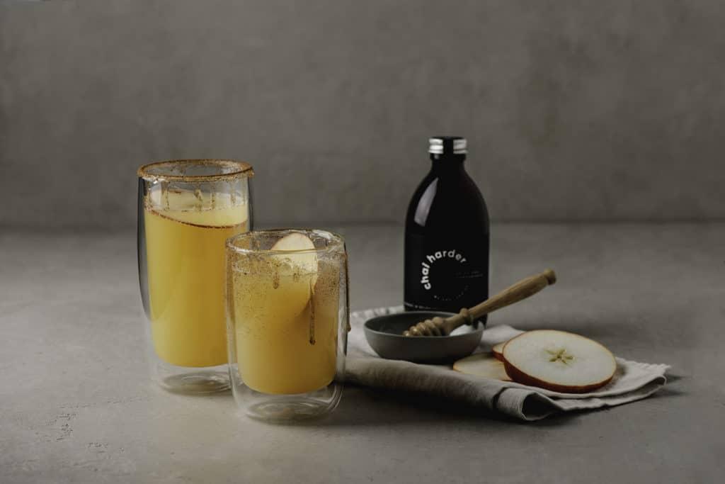 apple chai harder soda honey and apples