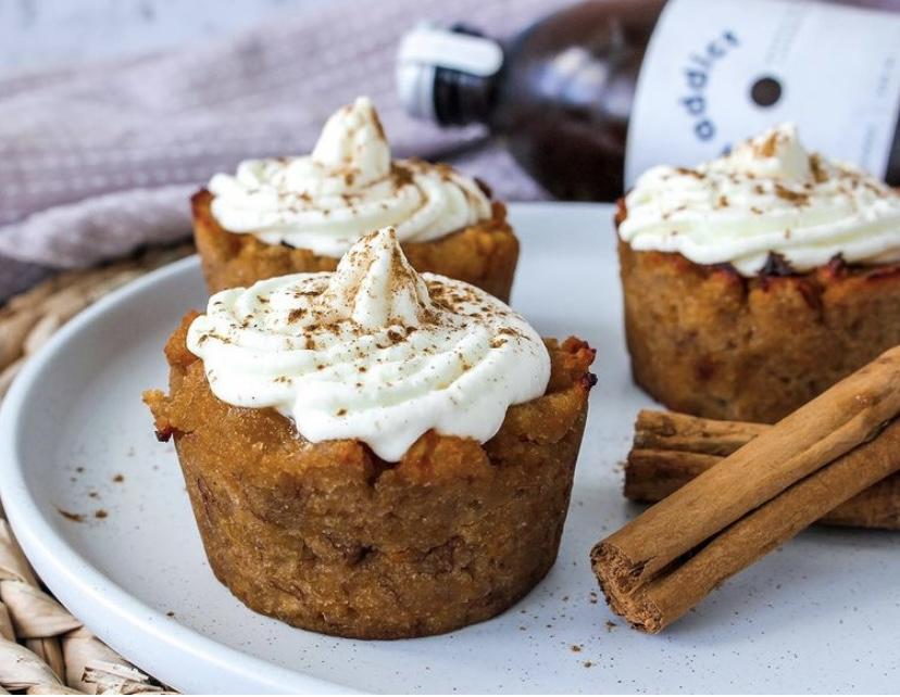 Pumpkin Banana Chai Muffins