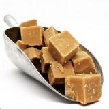 SMALT Caramel Fudge squares in scoop