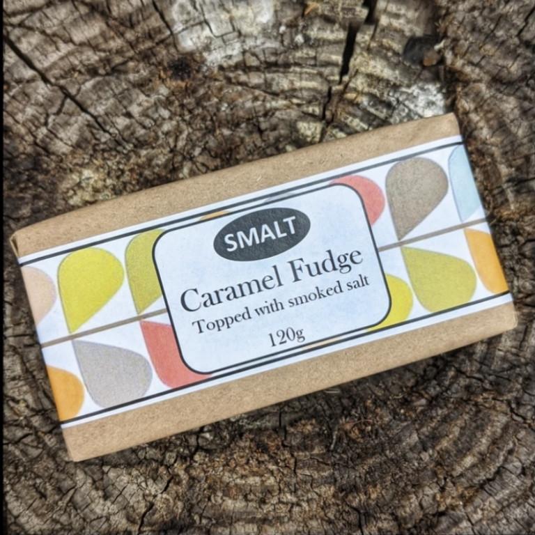 SMALT Caramel Fudge in wrapper
