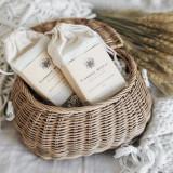 chai soap in basket